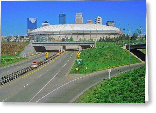 Hubert H. Humphrey Metrodome Greeting Card