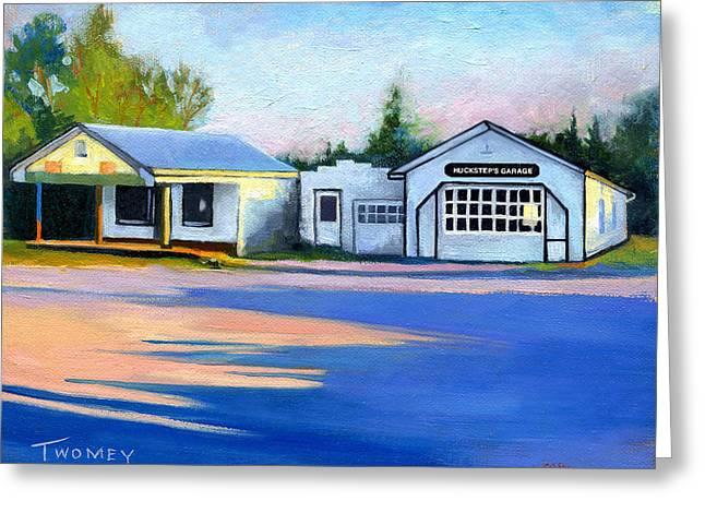 Huckstep's Garage Free Union Virginia Greeting Card by Catherine Twomey
