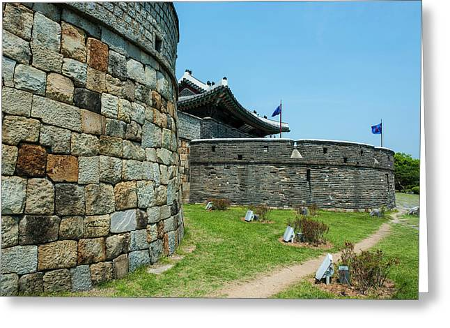 Huge Stone Walls Around The Unesco Greeting Card