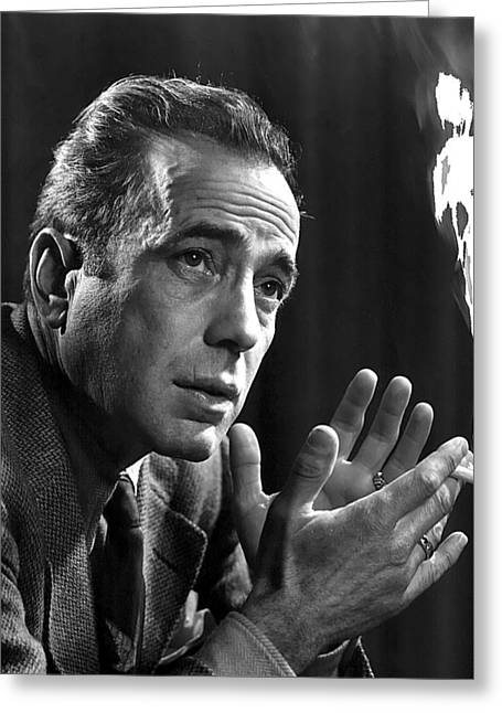 Humphrey Bogart Portrait 2 Karsh Photo Circa 1954-2014 Greeting Card by David Lee Guss