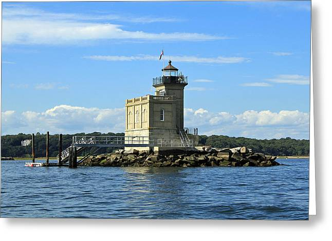Huntington Lighthouse Greeting Card