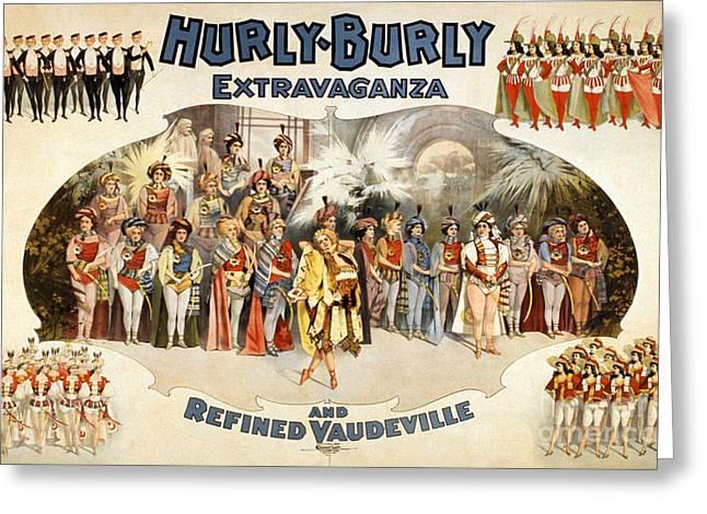 Hurly-burly Extravaganza Greeting Card