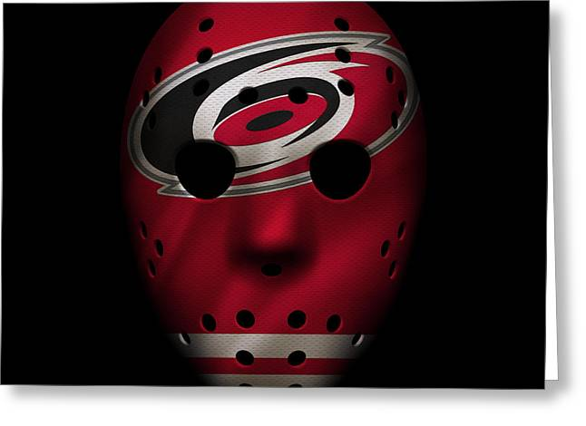 Hurricanes Jersey Mask Greeting Card