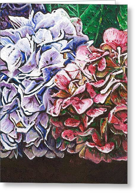 Hydrangeas Greeting Card by Helen White