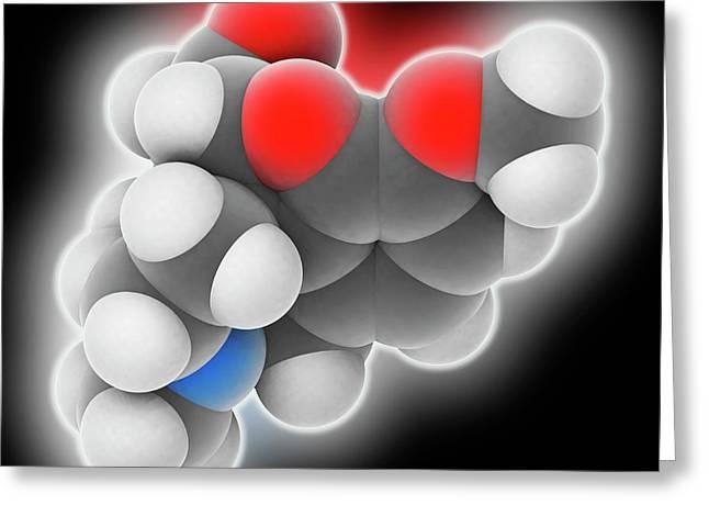 Hydrocodone Drug Molecule Greeting Card by Laguna Design