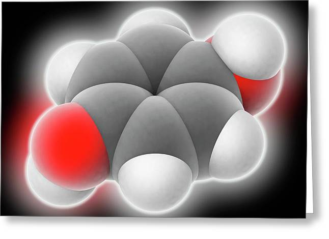 Hydroquinone Molecule Greeting Card by Laguna Design