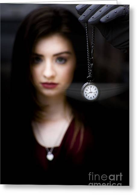 Hypnotised Woman Greeting Card by Jorgo Photography - Wall Art Gallery