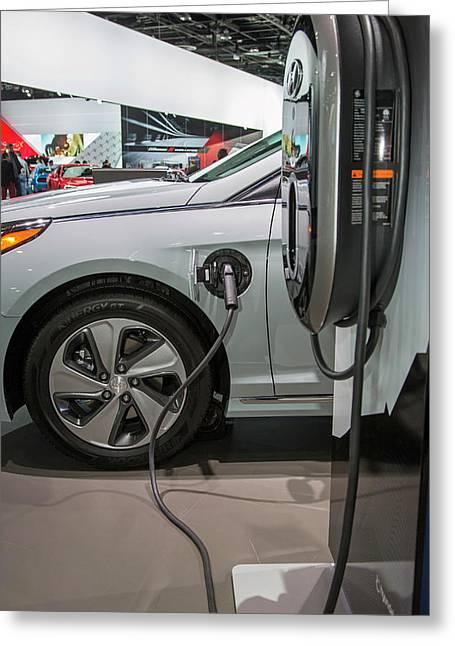 Hyundai Sonata Plug-in Hybrid Car Greeting Card by Jim West