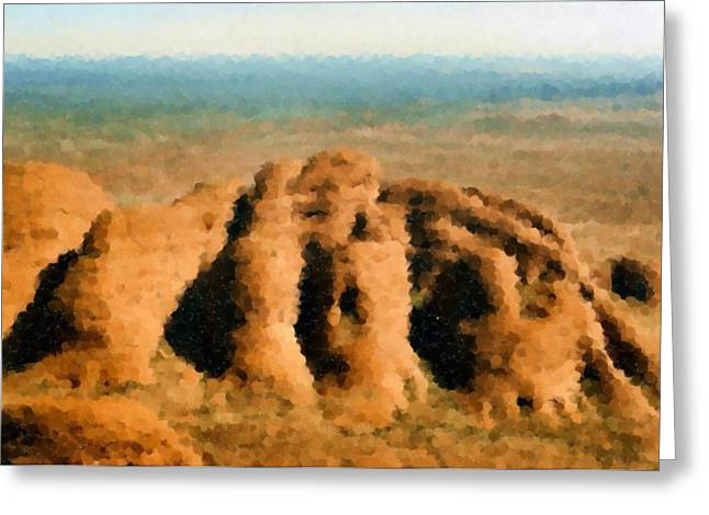 I Flew To The Olgas In An Old Fragile Plane Greeting Card by Asbjorn Lonvig