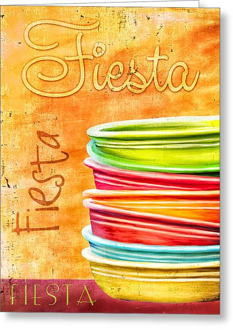 I Love Fiestaware Greeting Card by Brenda Bryant
