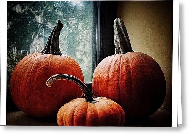 I Love Pumpkins Greeting Card