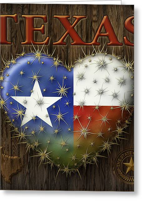 I Love Texas Greeting Card