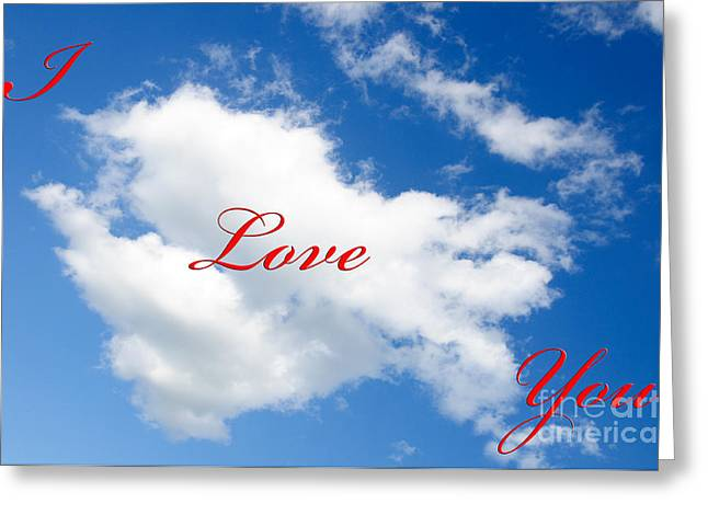 1 I Love You Heart Cloud Greeting Card