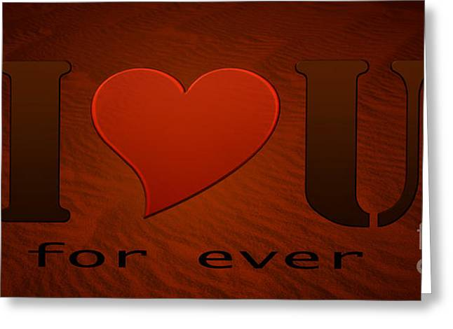 I Love You Greeting Card by Isabel Poulin