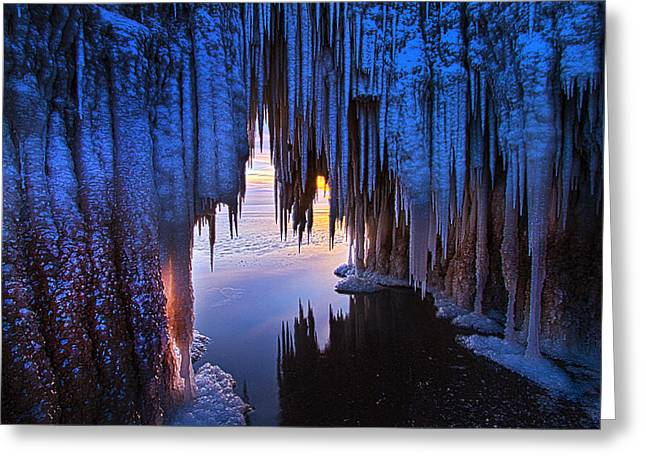Ice Cave Greeting Card by Phil Koch