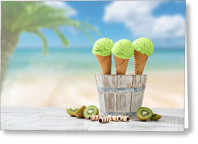 Ice Creams  Greeting Card by Amanda Elwell