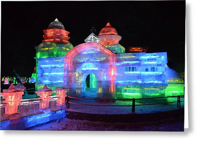 Ice Sculpture Greeting Card by Brett Geyer