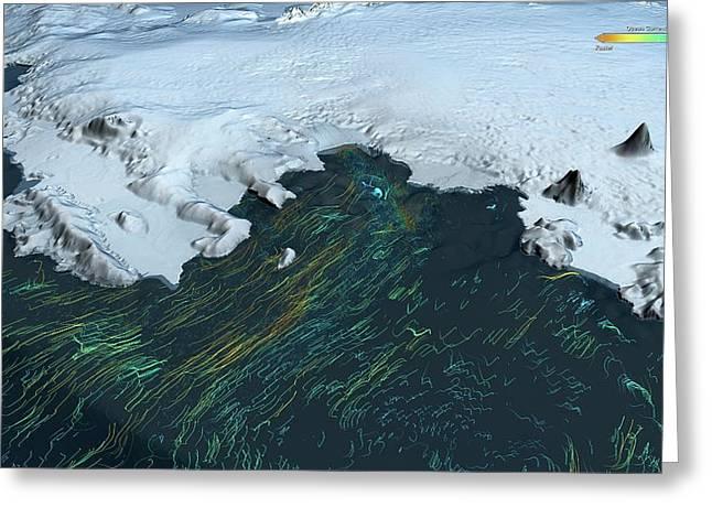 Ice Shelf Ocean Currents Greeting Card