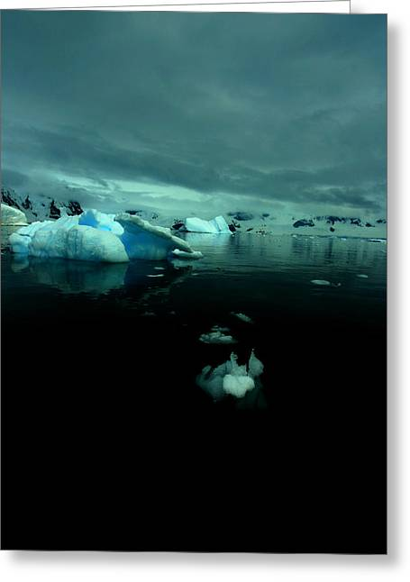 Greeting Card featuring the photograph Icebergs by Amanda Stadther