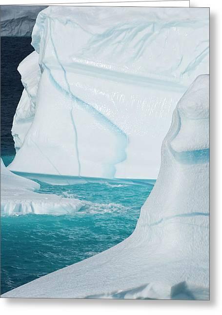 Icebergs, Cape York, Greenland Greeting Card