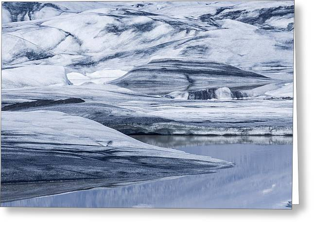 Icebergs, Hoffellsjokull Glacier Greeting Card by Panoramic Images