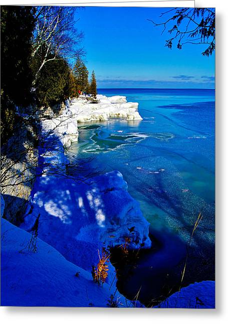 Iceberg Door County Wisconsin Greeting Card by Carol Toepke