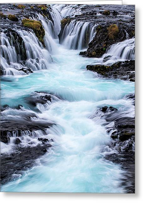 Iceland, Bruarfoss Greeting Card by Jaynes Gallery
