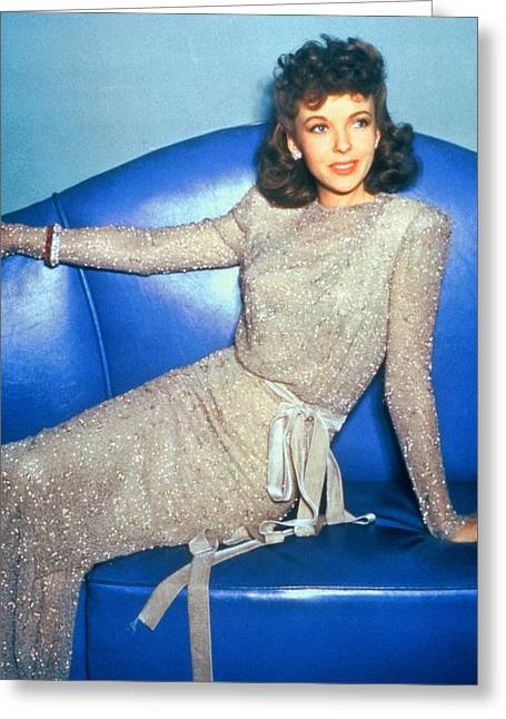 Ida Lupino Greeting Card by Silver Screen