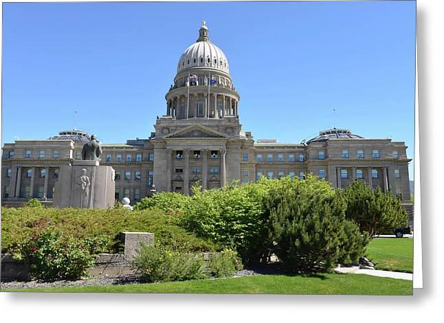 Idaho State Capitol, Boise, Idaho, Usa Greeting Card