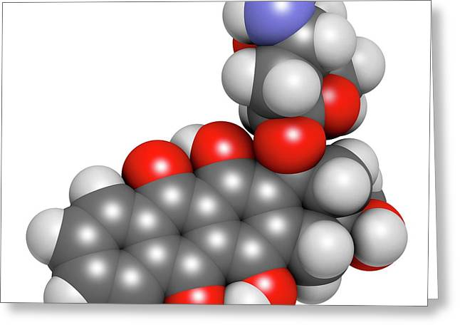 Idarubicin Cancer Drug Molecule Greeting Card by Molekuul