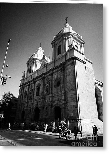Iglesia De Santo Domingo Santiago Chile Greeting Card by Joe Fox
