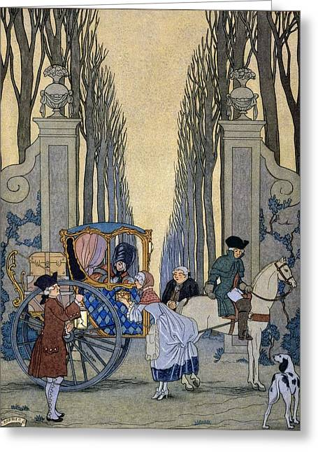 Illustration From 'les Liaisons Dangereuses'  Greeting Card by Georges Barbier