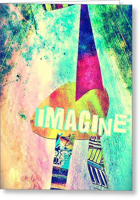 Imagine Greeting Card by Currie Silver