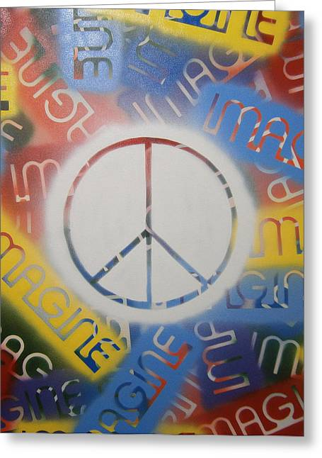 Imagine Peace Greeting Card by Drew Shourd