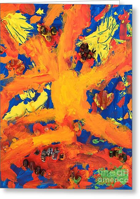 Greeting Card featuring the mixed media Impact by Donald J Ryker III