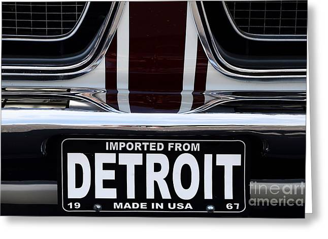 Imported From Detroit Greeting Card