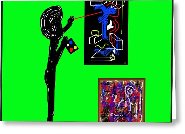 In His Elements Greeting Card by Sir Josef - Social Critic - ART