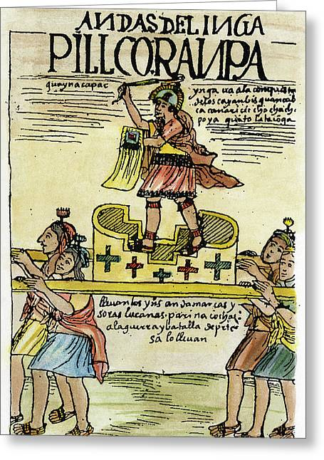 Inca Warrior Greeting Card by Granger