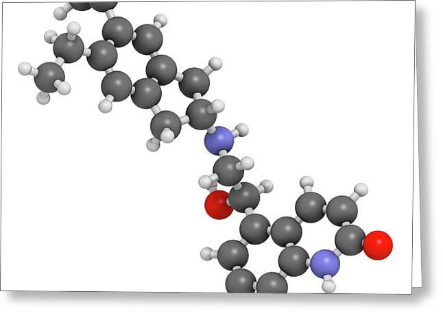 Indacaterol Copd Drug Molecule Greeting Card
