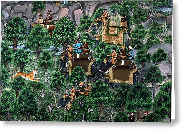 India Hunting Party Greeting Card by Granger