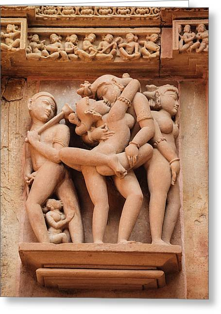 India, Madhya Pradesh, Chhatarpur Greeting Card by Alida Latham
