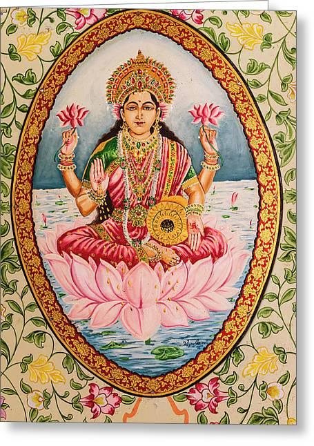 India, Rajasthan, Bikaner, Karni Mata Greeting Card by Alida Latham