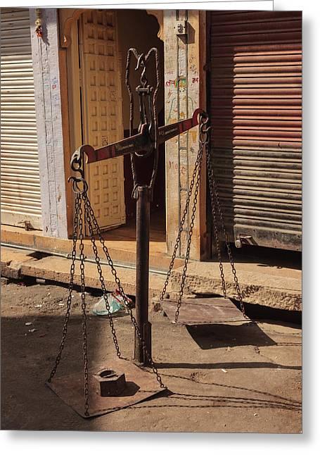 India, Rajasthan, Jaisalmer Greeting Card by Alida Latham