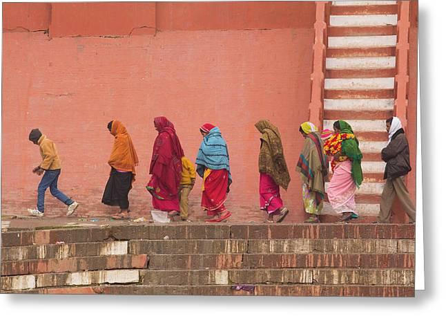 India, Uttar Pradesh, Varanasi Greeting Card