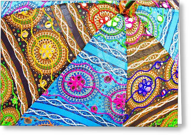 Indian Cloth Greeting Card by Tom Gowanlock