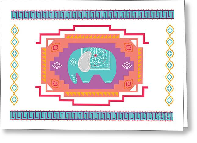 Indian Elephant Greeting Card by Susan Claire