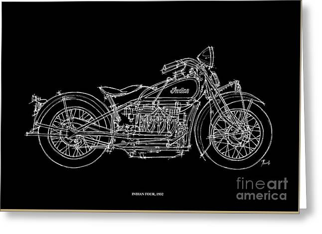 Indian Four 1932 Greeting Card by Pablo Franchi