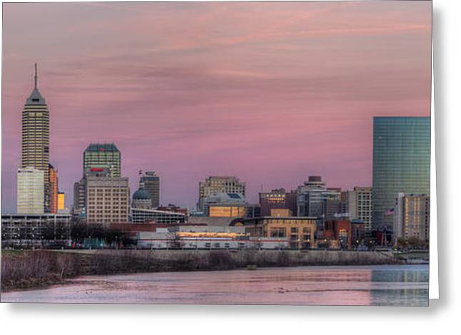 Indianapolis Skyline Greeting Card by Twenty Two North Photography