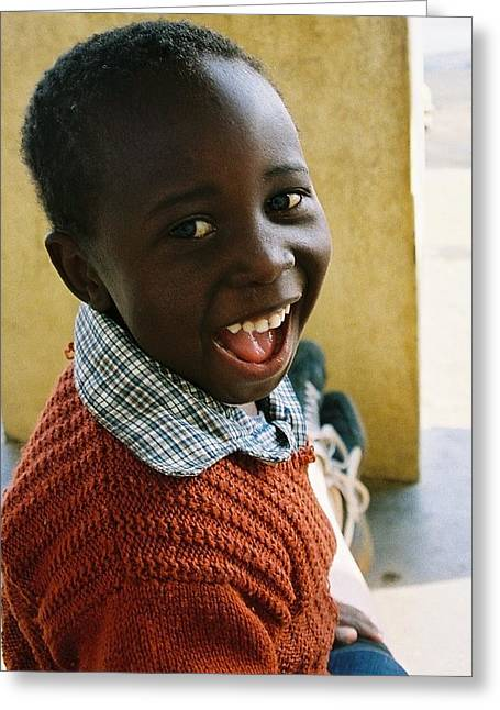 Greeting Card featuring the photograph Indomitable Happiness by Carlee Ojeda