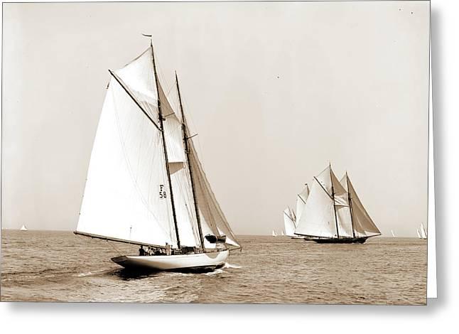 Indra, Indra Schooner, Yachts Greeting Card